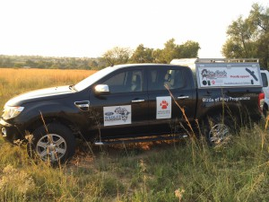 EWT vehicle on site for a survey.